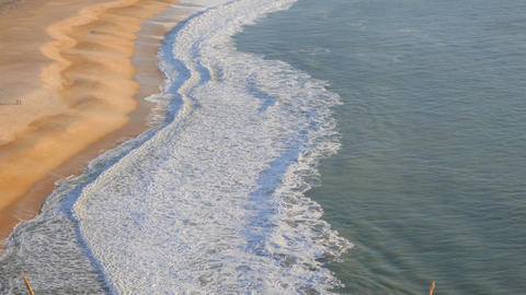 Sandy Beach In Portugal stock footage