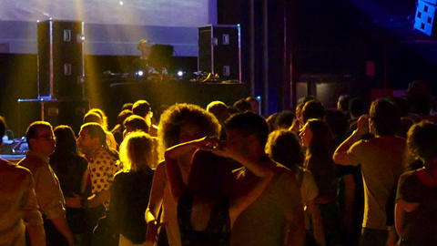 Barcelona Night Disco Party Dj Session Sala Apolo Footage