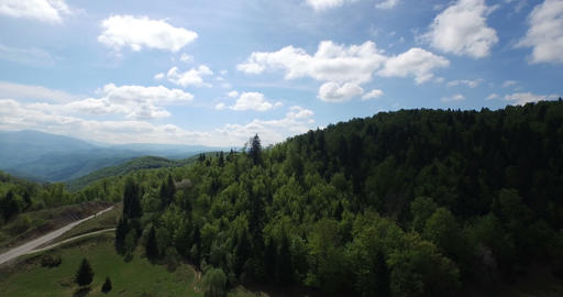 4K Aerial Mountains stock footage