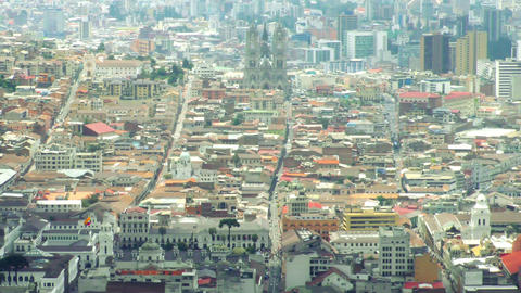 Quito city historic center overview Footage