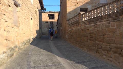 Pilgrim on the Camino de Santiago 80 Footage