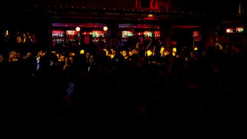 Barcelona Night Disco Party Crowded Sala Apolo 4k Footage