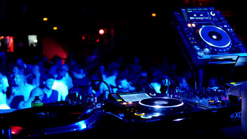 Barcelona Night Disco Party Sala Apolo 4k Footage