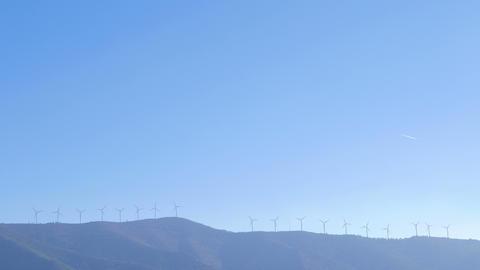 Wind Turbines on the horizon Footage