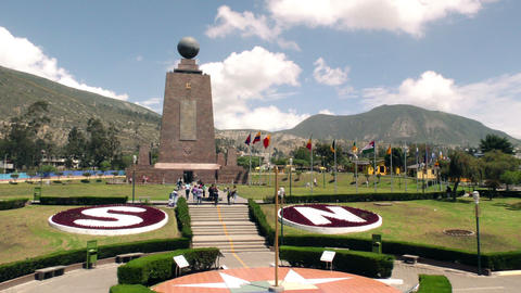 Center Of The World city Quito Footage