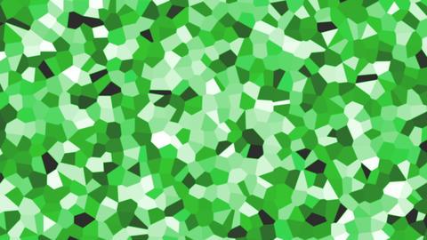 large irregular shape pattern background green fast Animation