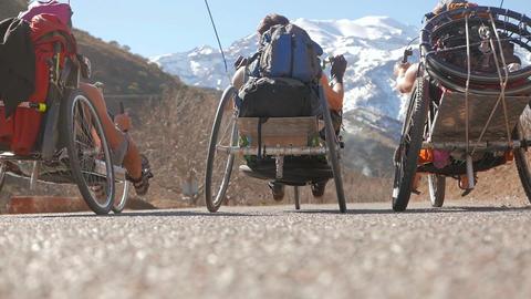 Riding through the Morocco Footage