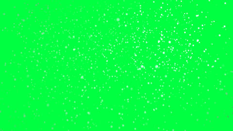 Falling Snow, isolated on green screen Animation