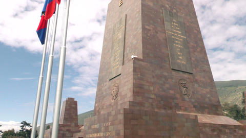 Center Of The World Monument North East Side stock footage