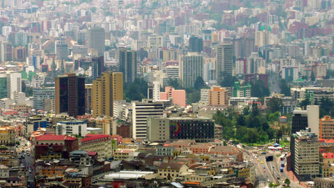Zoom In Over Modern Side Of Quito City stock footage