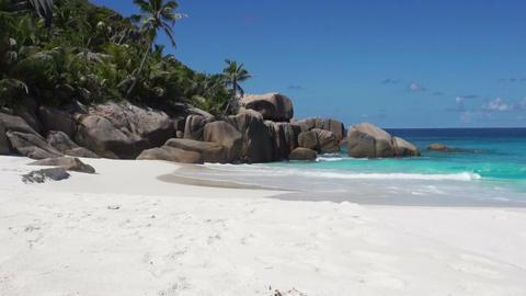 granite rocks on seychelles beach Footage