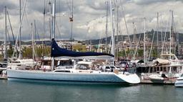 barcelona harbour yachts mediterranean luxury Footage