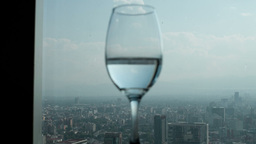 Luxury Glass Rotation Restaurant Wtc Mexico City stock footage