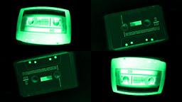 cassette fisheye audio music tape Footage