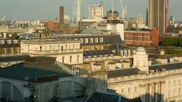 london city skyline pan Footage