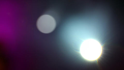 Turning Spotlight Beams In A Rock Concert stock footage