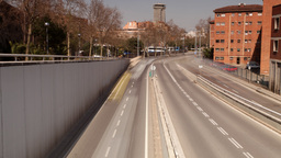 barcelona city traffic urban road transport Footage
