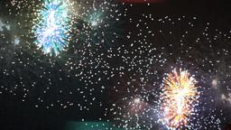 fireworks abstract light pattern explosion sparkle celebration Footage