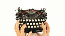 old type typewriter vintage book words Footage