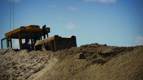 Bulldozer at work Stock Video Footage