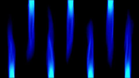 10645 gas flames up down background loop Stock Video Footage