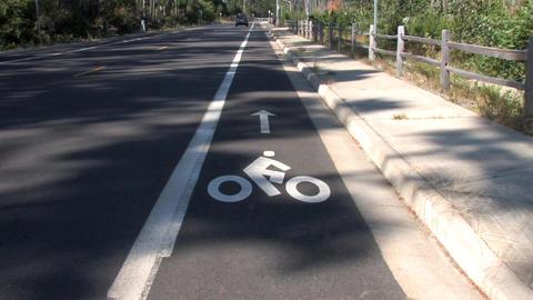 Bike Lane Stock Video Footage