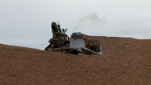 Bulldozer Stock Video Footage