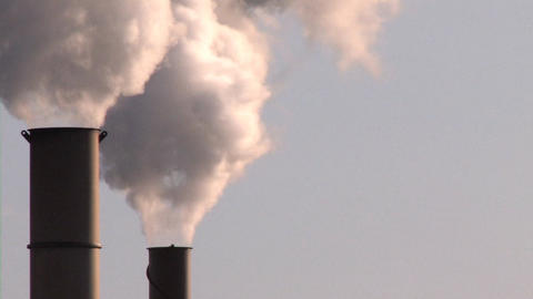 Smoke Stack, Air Pollution Footage