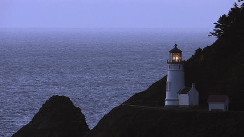 Heceta Lighthouse Stock Video Footage