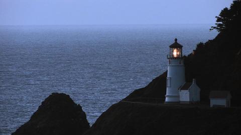 Heceta Lighthouse Stock Video Footage