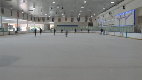 Ice Rink Stock Video Footage