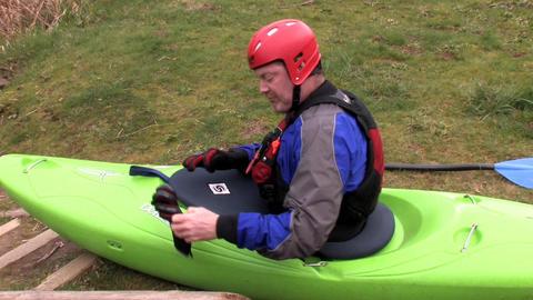 Man on a Kayak Stock Video Footage