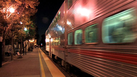 Train Station Stock Video Footage