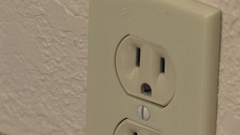 Electrical Plug Outlet Stock Video Footage