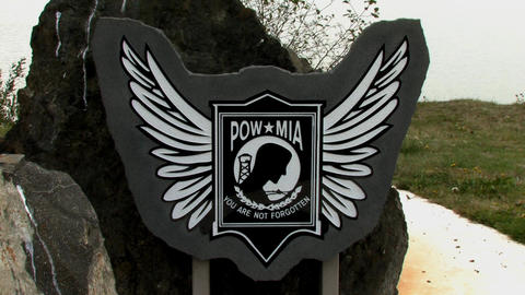POW MIA Memorial Stock Video Footage