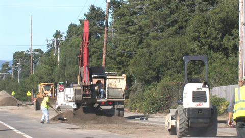 Road Work Stock Video Footage