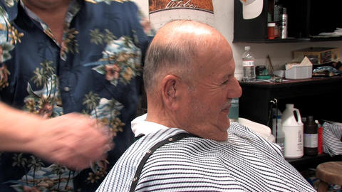 Senior Haircut Stock Video Footage