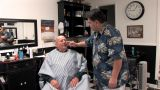 Senior Haircut stock footage
