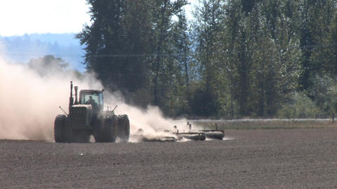 Tractor Plowing Stock Video Footage