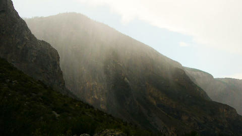 Rain at mountains Stock Video Footage