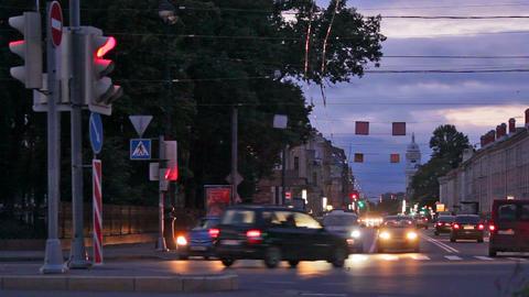 Night traffic Footage