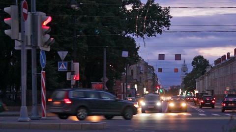 Night traffic Stock Video Footage
