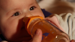 Baby 33 eating feeding Stock Video Footage