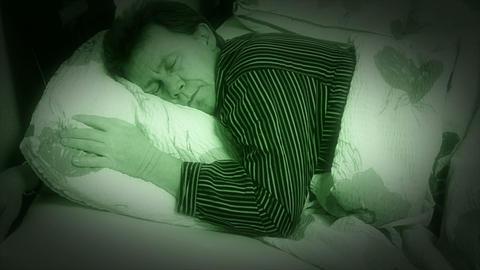 10651 sleepless sleep night camera time lapse closer Stock Video Footage