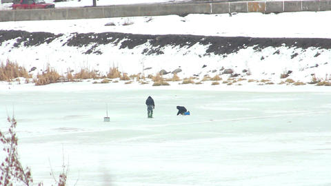 People on ice 7 Stock Video Footage