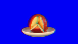 Stereoscopic 3D of rotating seemless looping apple (Combo) 1 Stock Video Footage