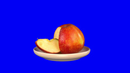 Stereoscopic 3D of rotating seemless looping apple (Combo) 1 Footage
