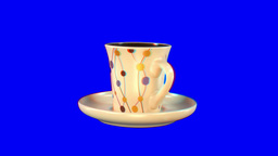Stereoscopic 3D of rotating seemless looping coffee cup... Stock Video Footage