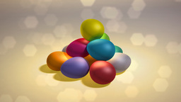 easter eggs hill background Stock Video Footage