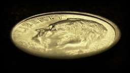 United States one dime coin Stock Video Footage
